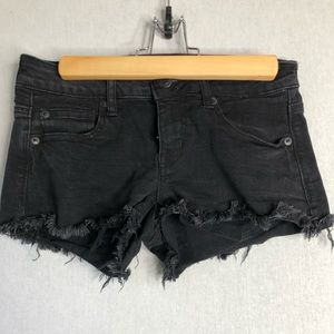 American Eagle black super stretchy low shortie